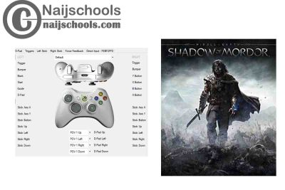 Middle-earth: Shadow of Mordor X360ce Settings for Any PC Gamepad Controller | TESTED & WORKING