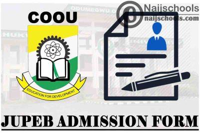 Chukwuemeka Odumegwu Ojukwu University (COOU) JUPEB Admission Form for 2021/2022 Academic Session | APPLY NOW