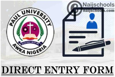 Paul University Direct Entry Admission Screening Form for 2021/2022 Academic Session | APPLY NOW
