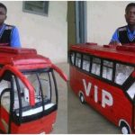Ghanaian Student Builds Beautiful VIP Bus With Just Plywood And Glue (PHOTOS)