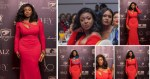 Yvonne Okoro's Big 'Watermelons' Is All You Need To See As She Rocked In This Red Dress (Pictures)