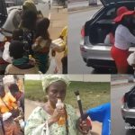 Afia Schwarzenegger distributes food & drinks to the needy on the street