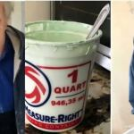 90-year-old man accidentally eats half a bucket of paint thinking it was yogurt
