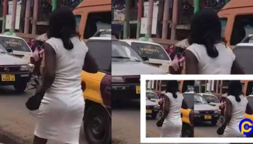 Beautiful Ghanaian Young Lady Goes Mad After Been Dropped From A Speeding Posh Car In Kumasi [Video]