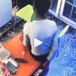 Video: Lady Captured On CCTV Camera Stealing Money In A Boutique
