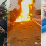 Man cries as friend's car he borrowed to a funeral burns on his way back