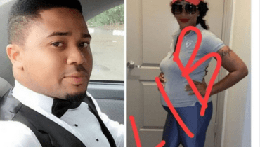 Checkout Lovely Photos Of Nollywood Actor, Mike Godson Expecting Twins With His American Wife