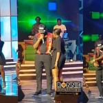 Fella Makafui joins Medikal on stage as they perform together at Ghana Meets Naija 2019
