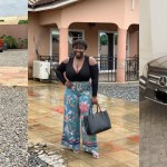 Kumawoo Actress Maame Serwaa flaunts her Mansion and Benz Car in new Photos