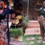 Black dress struggles to contain Virgin Maame Serwaa's 'nufoɔ' (Photos)
