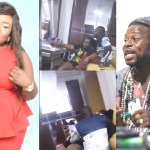 Gospel singer Ohemaa Jacky caught on camera being 'chopped' by a fetish priest, video surfaces