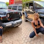 Photos: Efia Odo 'acquires' a Jeep Rubicon car