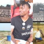 """Photos: """"It's taking shape"""" – Christian Atsu gives updates on the school he's building in Senya"""