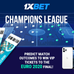 Awesome prizes at 1xBet with Champions League!