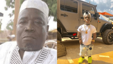 Shatta Bandle buries his late father today