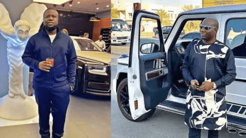 Hushpuppi's father is a taxi driver and mum is a bread seller