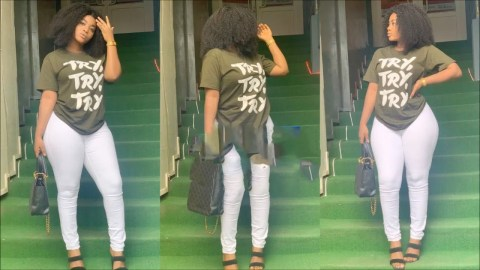 Yaw Dabo's Girlfriend Vivian Okyere puts her Curvy & Tundra Backside on Display again (See Photos)