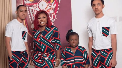 PHOTO: Afia Schwar Flaunts Her Ashaiman-born Twins And Adorable Daughter On Instagram