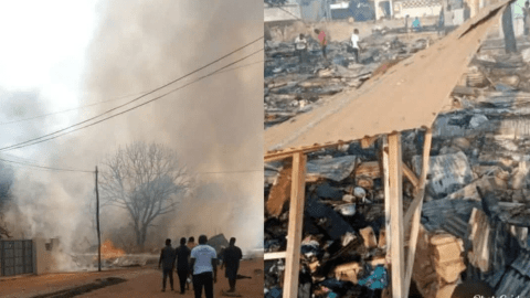 BREAKING: Cylinder Explosion Renders More Than 30 People Homeless At Adenta Powerland (VIDEOS + PICTURES)