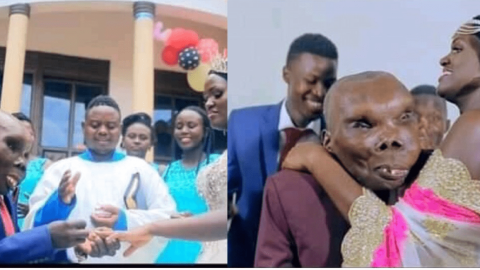 Uganda's ugliest man finds true love as he marries second wife (photos)