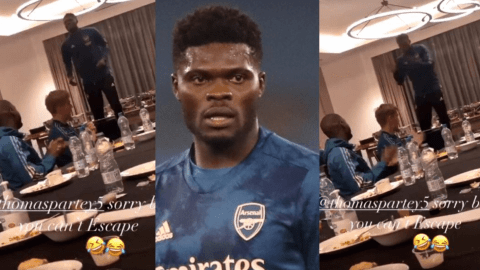 Thomas Partey leads Arsenal teammates to sing local Ghanaian gospel song in Twi