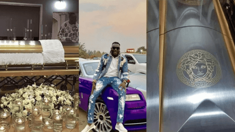 Photos: Ginimbi Buried In Versace Customized Coffin Worth Over ₵29,000