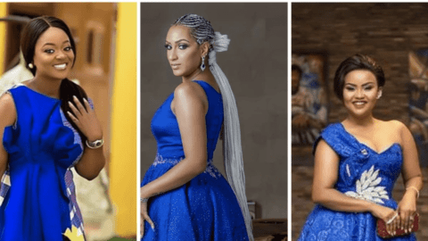 Meet Ghanaian Beautiful Actresses Who Are Slaying In Beautiful Blue Outfit
