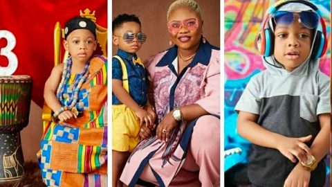 Obofowaa Celebrates First Son's 3rd Birthday With Beautiful Pictures Causing Stirs Online