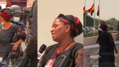 Abigail Rawlings: First Daughter Of Rawlings Fights With Soldiers At Rawlings Funeral (Video)