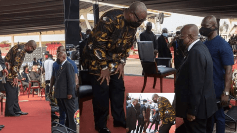The Moment Mahama Met Akufo Addo Face To Face: A Critical Look At What Happened – Pictures