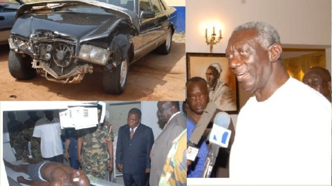 This Is The Car That Nearly Killed Ex-President Kufuor.