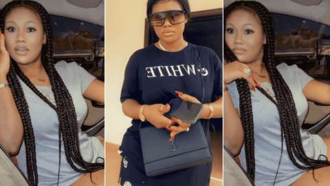 Sandra Ababio: Lil Win's Girlfriend Flaunts Beauty and Luxurious car in Video