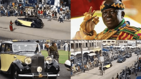 Ghanaians React As Otumfuo Rides On The Streets In His 86 Year Old Rolls Royce