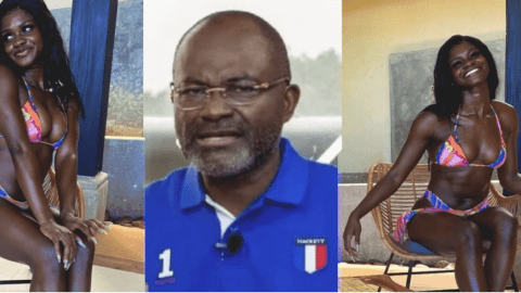 Ken Agyapong's daughter goes nʋde online after he swore Poloo deserves 1 year in prison over nʋde photo