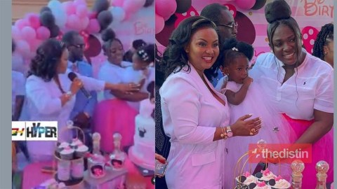 Nana Ama Mcbrown Gifts Tracey Boakye's Daughter Expensive Present At Her 1 Year Birthday Celebration (Video)