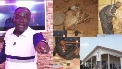I saw this pastor burying cow head in his church – Captain Smart exposes (Video)