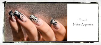 NAIL ART FRENCH NOIRE ARGENTEE 6