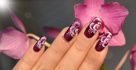 NAIL ART ONE STROKE FUSHIA 4