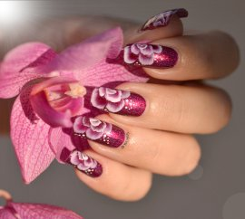 NAIL ART ONE STROKE FUSHIA 6