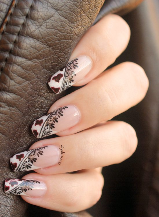NAIL ART COW GIRL 6