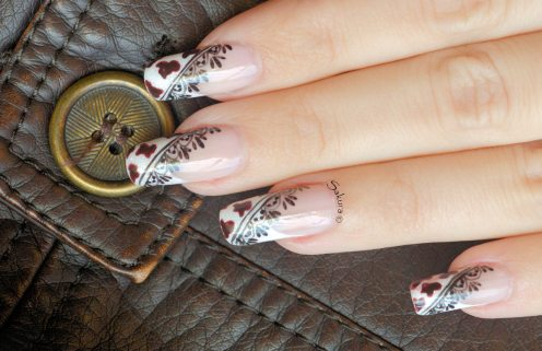 NAIL ART COW GIRL