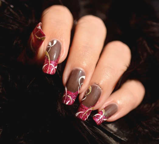 NAIL ART FRENCH CERCLES 6
