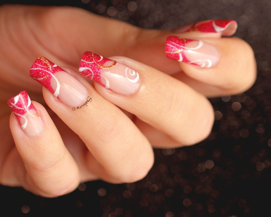 NAIL ART FRENCH CERCLES NUDE 5
