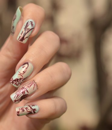 NAIL ART JUNGLE ASIATIQUE