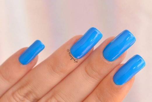 BEAUTY NAILS BLUE FLUO