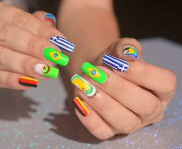 NAIL ART COUPE DU MONDE FOOTBALL 4