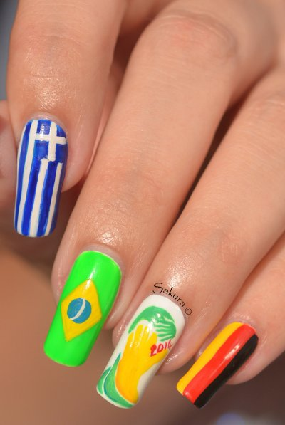 NAIL ART COUPE DU MONDE FOOTBALL 6