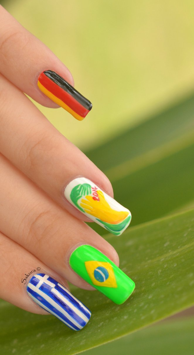 NAIL ART COUPE DU MONDE FOOTBALL 7