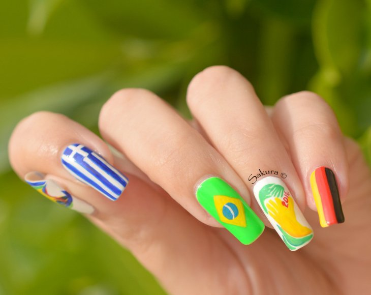 NAIL ART COUPE DU MONDE FOOTBALL 8