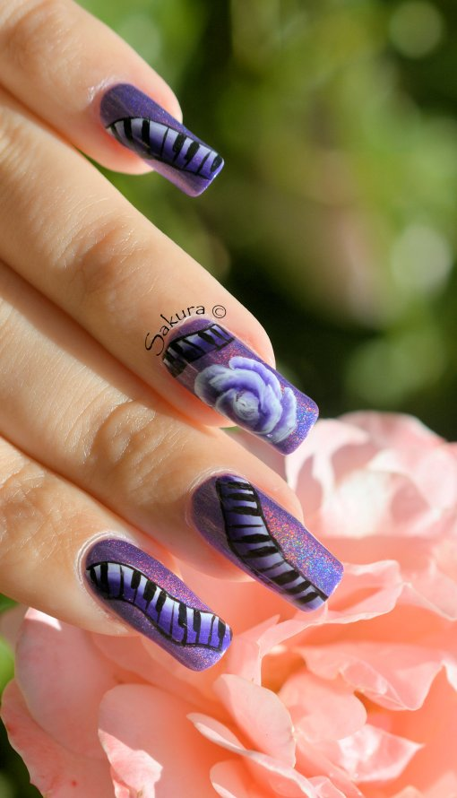 NAIL ART ONE STROKE MUSIQUE 7